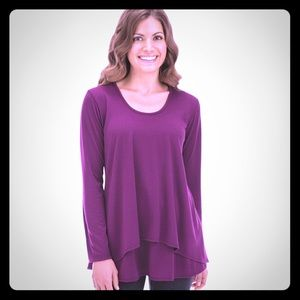 Double Tier Layered long sleeve top size XL